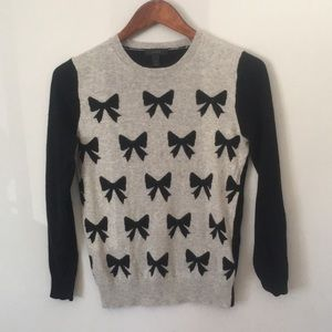 J Crew Bow Sweater Wool Blend